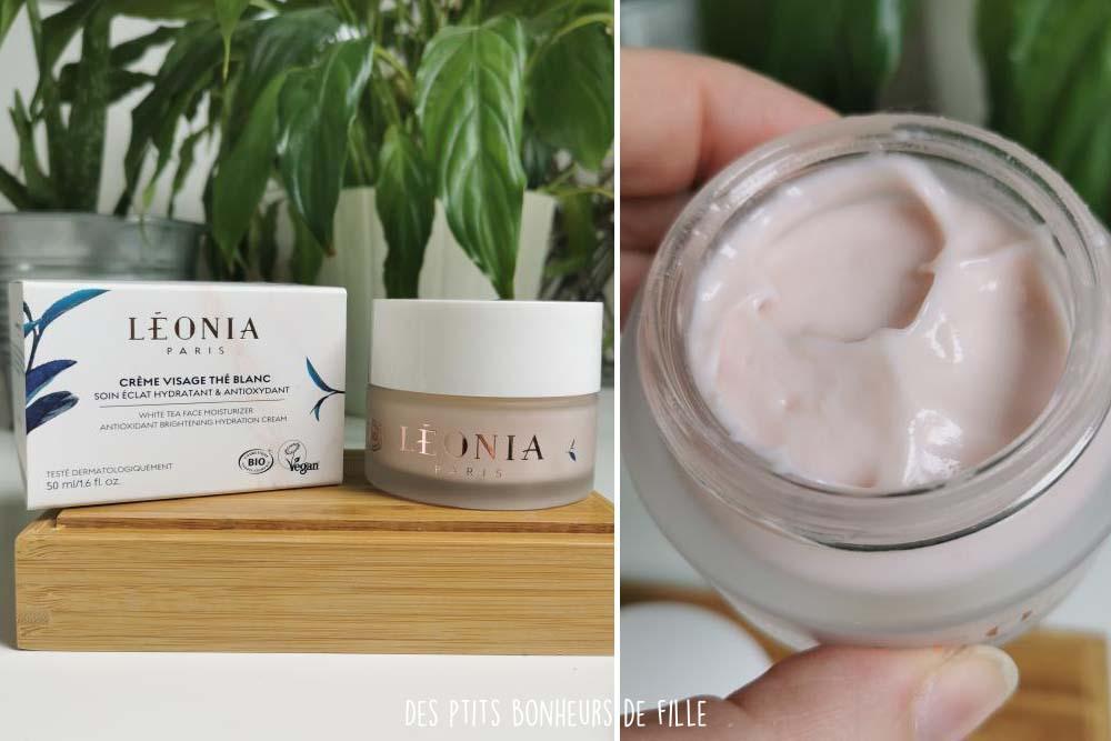 crème visage thé blanc Léonia