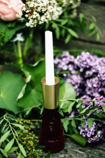 Kerzenhalter  aus Messing, sodasoda.de, campari Soda Flasche als Kerzenhalter  umfunktionieren, dekorieren, Design