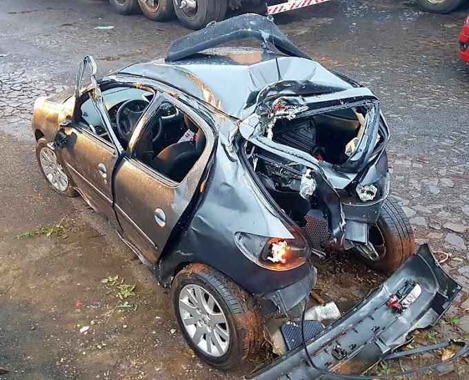 Acidente é registrado na BR 277 em Cantagalo neste domingo