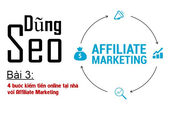 Bài 3: 4 bước kiếm tiền online tại nhà với Affiliate Marketing