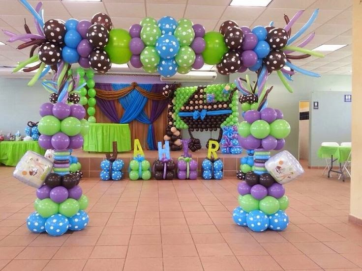 De todo un poco decoraciones con globos espectaculares for Todo decoraciones
