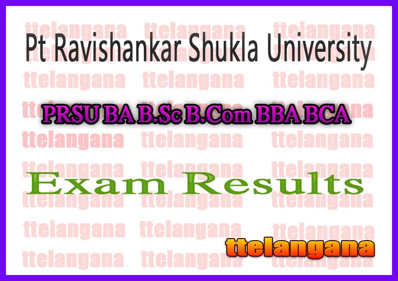 PRSU BA B.Sc B.Com BBA BCA Exam Result