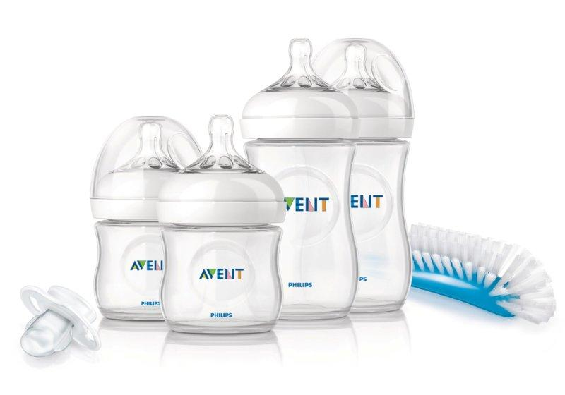 New Philips Avent Natural Newborn Starter Set Baby Bottle /& BRUSH BPA Free