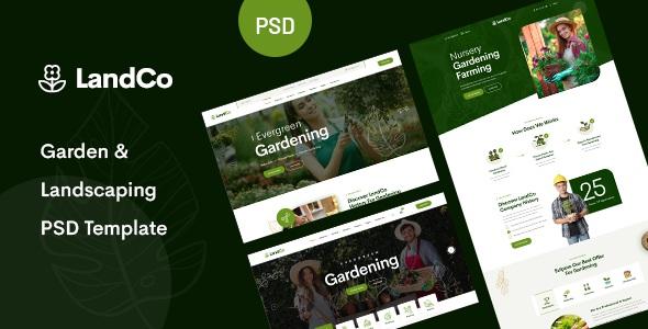 Best Garden & Landscaping PSD Template