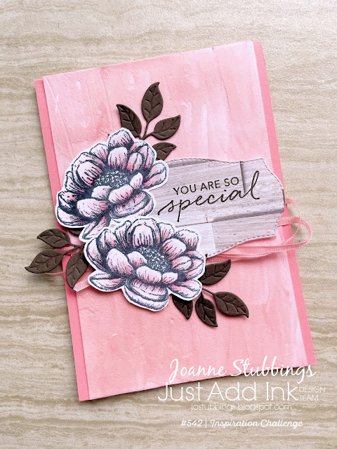 Jo's Stamping Spot - Just Add Ink Challenge #542 using embossing paste & Tasteful Touches Bundle by Stampin' Up!