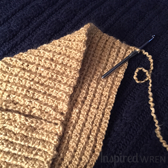 Back loop single crochet | The Inspired Wren