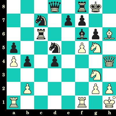 Les Blancs jouent et matent en 2 coups - Martin Nayhebaver vs Helgi Gretarsson, Batoumi, 2019