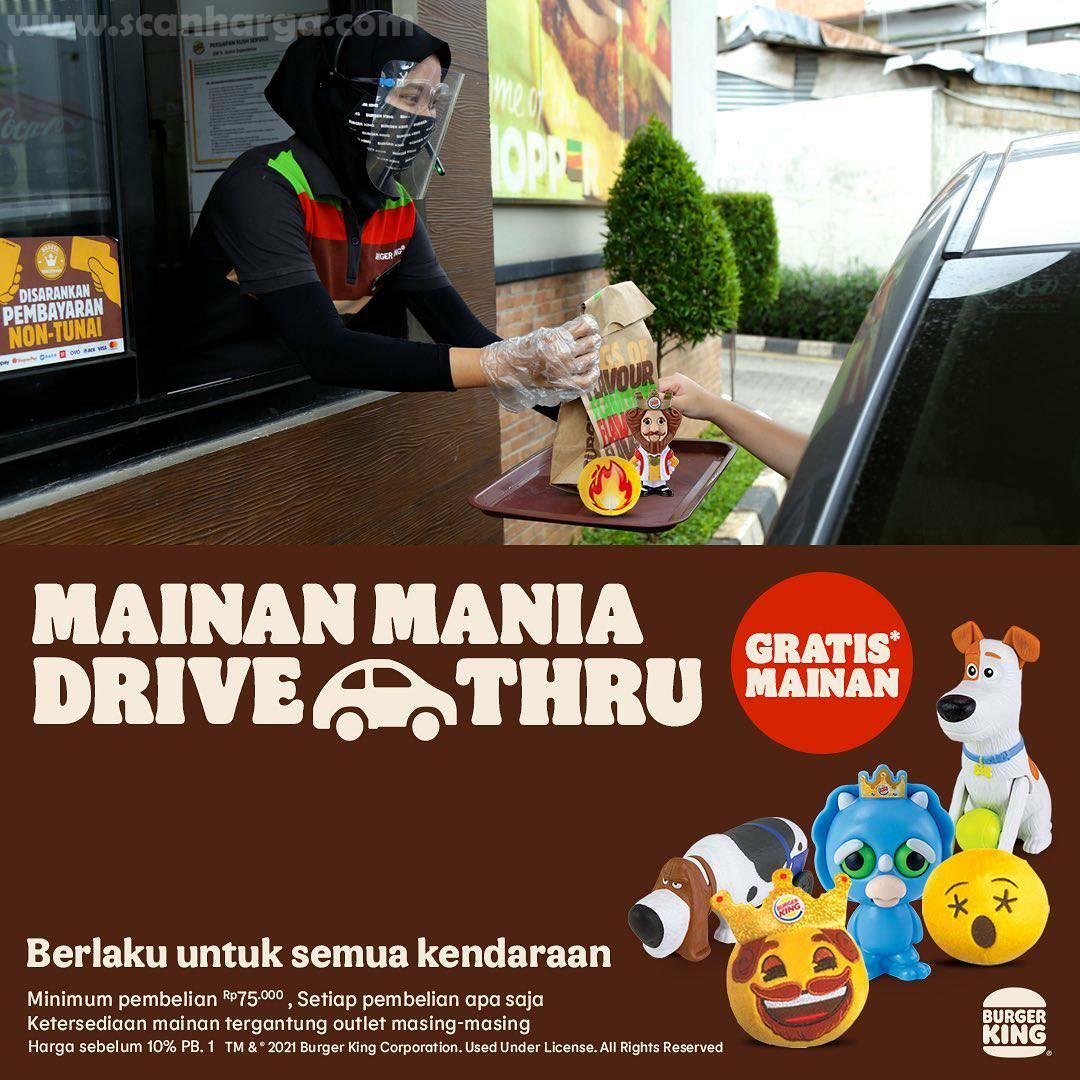 BURGER KING Promo GRATIS MAINAN untuk pembelian via DRIVE THRU BK!