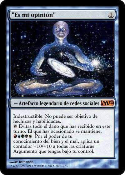 Meme de humor sobre Magic the Gathering
