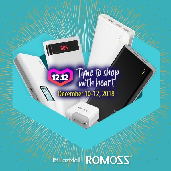 Enjoy up to 50% Discount on Select Romoss Products on 12.12