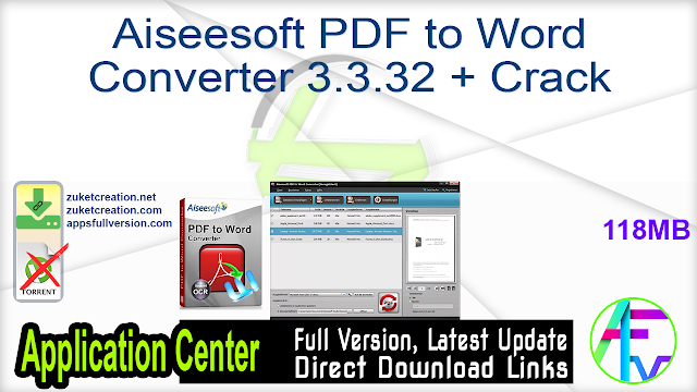 Aiseesoft PDF to Word Converter 3.3.36 + Patch