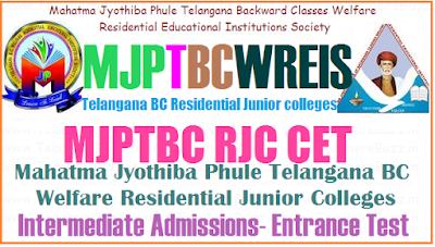 Mjprjc colleges in telangana 2019, mjptbcwreis junior colleges list