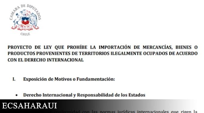 Parlamentarios chilenos presentan proyecto de ley que prohíbe las importaciones de territorios ocupados del Sáhara Occidental y Palestina.