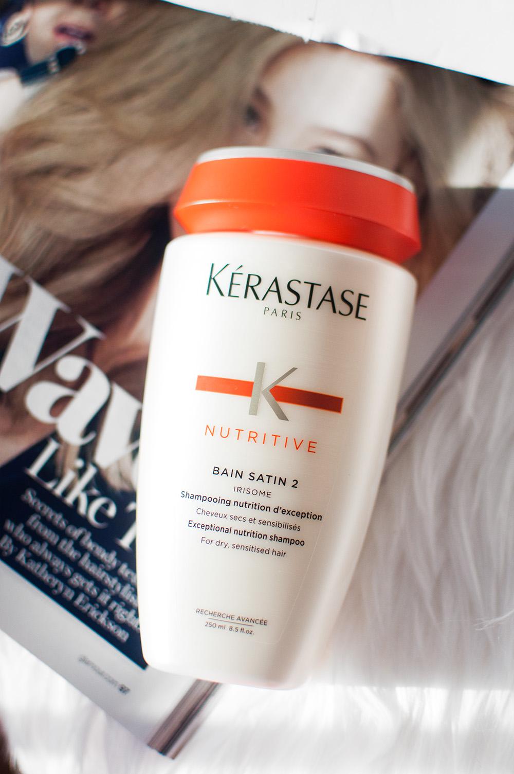 Kerastase nutritive bain satin 2, kerastase shampoo, shampoo for dry hair, prestige shampoo, dry hair shampoo, kerastase review,