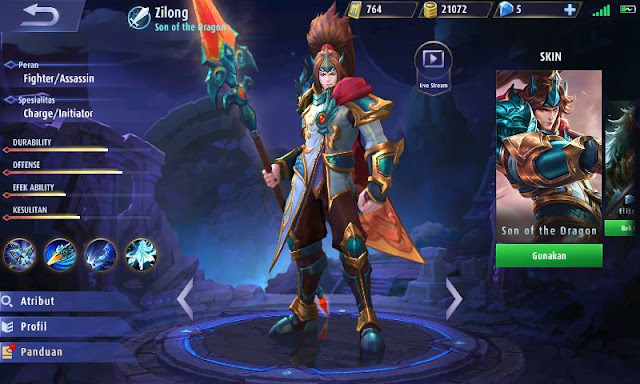 Build Item Terkuat Zilong Mobile Legends - Son Of The Dragon
