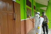 Brimob Kompi 4 Sosialisasi Protokol Kesehatan, Disinfektan dan Salurkan Bantuan