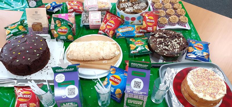 Garador cakes at their Macmillan Coffee Morning