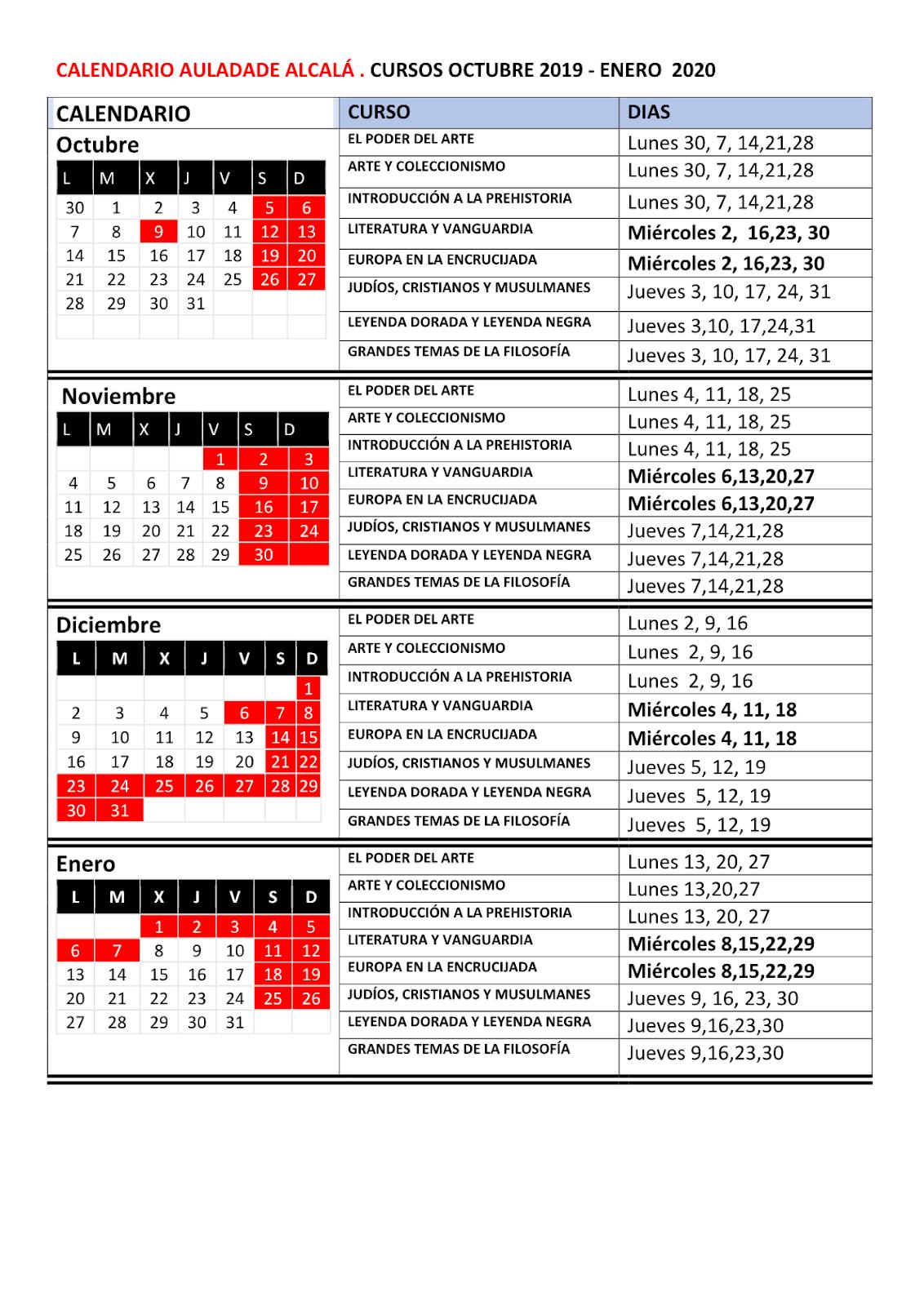Calendario Urjc 2020 2019.Top 10 Punto Medio Noticias Calendario Urjc 2020