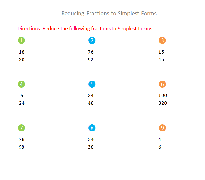 simplest form 12/36  Bro and Sis Math Club: Reducing Fractions to Simplest Forms