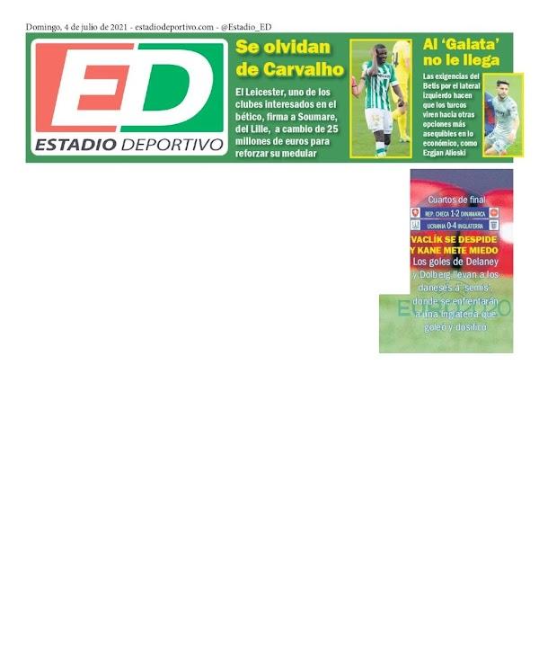 "Betis, Estadio Deportivo: ""Se olvidan de Carvalho"""