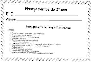 Planejamento anual 3º ano alfabetização