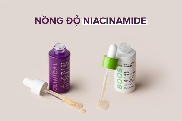 Chọn nồng độ Niacinamide phù hợp.