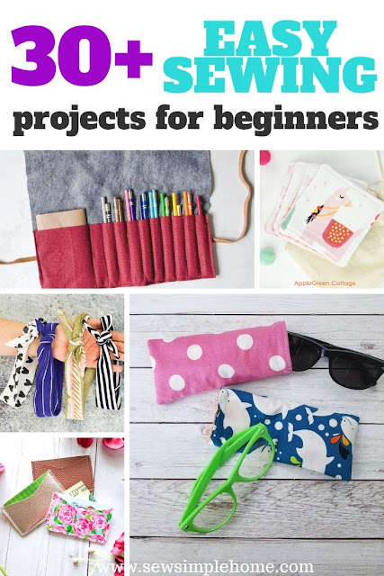 Great list of free and easy sewing projects for beginners including children, teens and adults.  These projects will help you learn to sew and be successful.