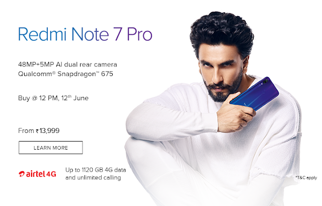 Redmi Note 7 Pro sales start today on 12 PM.