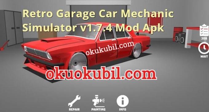 Retro Garage Car Mechanic Simulator v1.7.4 Mod Apk Para Hilesi İndir