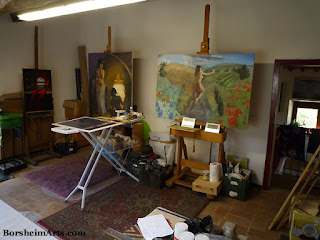 Tuscany Italy artist art studio space, Italia, Toscana On Easel