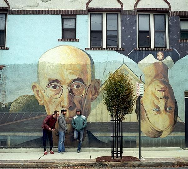 Grafiti atau Lukisan Dinding profesor, ilmuwan