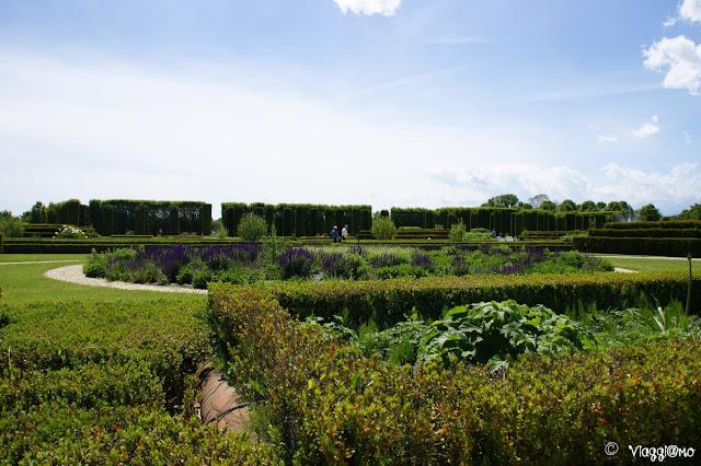Scorcio dei giardini della Reggia di Venaria Reale