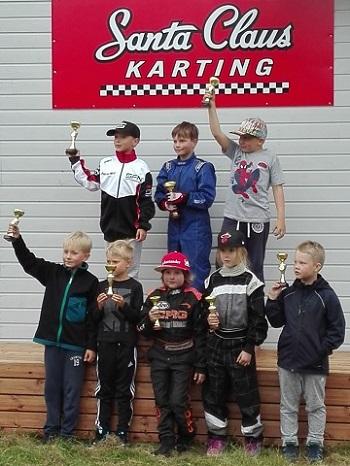 lasten palkintojenjako karting Santa Claus karting