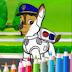 Coloring Dogs Cartoon Page PAW Patrol Games