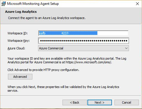 Install and Configure the OMS Windows Agent