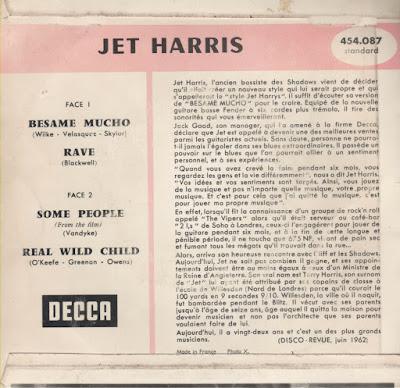 Jet Harris  -  Besame mucho (1962)