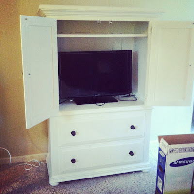 Armoire makeover + new TV = Happy!