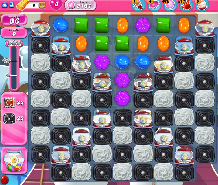 Candy Crush Saga level 2167
