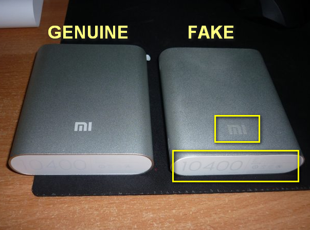 Xiaomi Powerbank, Xiaomi Powerbank Real vs Fake, Xiaomi Powerbank 10,400mah