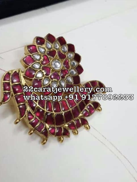 Attractive Unique Silver Kundan Pendants