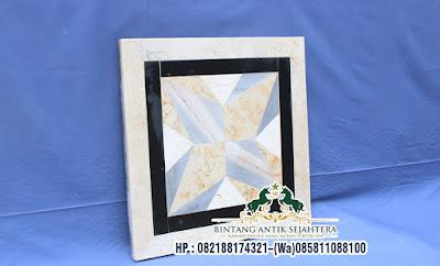 Model Meja Motif Batu Alam, Meja Marmer Ruang Tamu, Meja Marmer Tulungagung