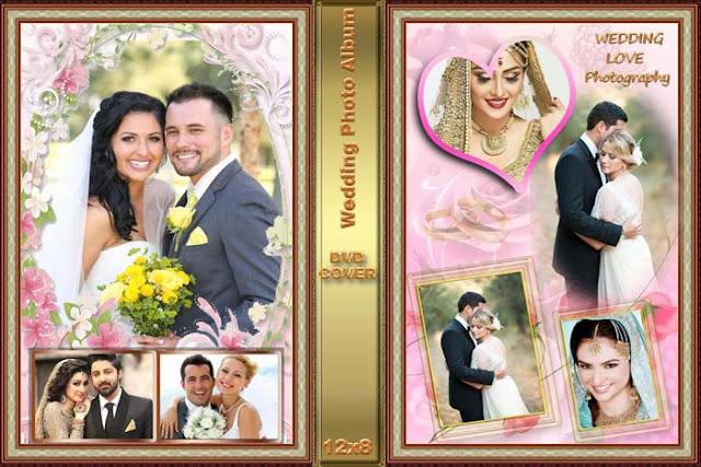 Wedding Album Design Templates for Photoshop 12x36 Free Download - PSD Wedding Album Design Template