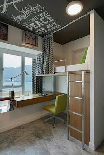 oficina con cama superior