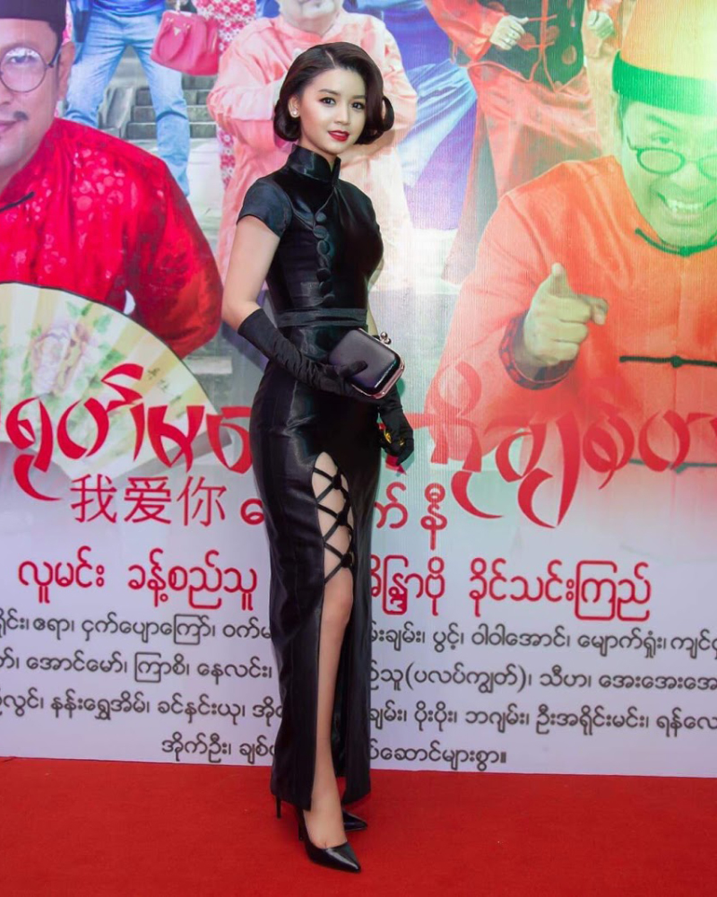 Modern-old ancient classics Sexy Black Dress Khin Wint Wah