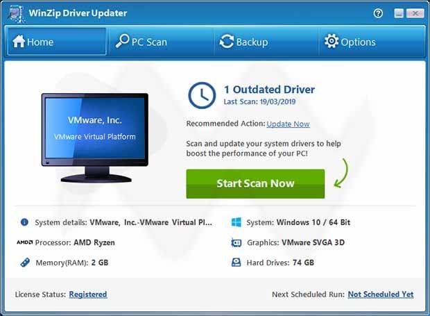 تنزيل برنامج WinZip Driver Updater 5.27.2.16 لتحديث تعارف الحاسوب
