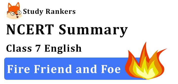 Chapter 8 Fire Friend and Foe Class 7 English Summary