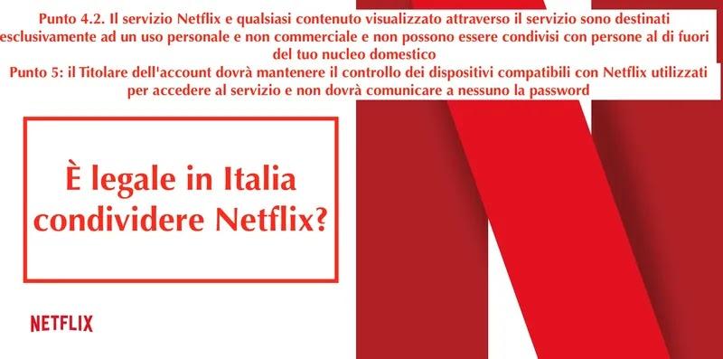termini legali sulla condivisione di account netflix