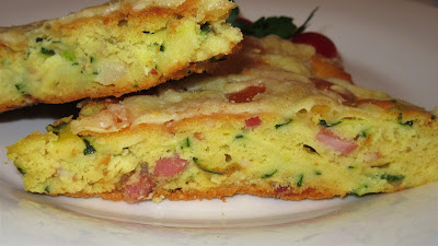 Pogača s tikvicama i pancetom / Cake with zucchini and bacon