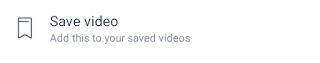 save video in facebook