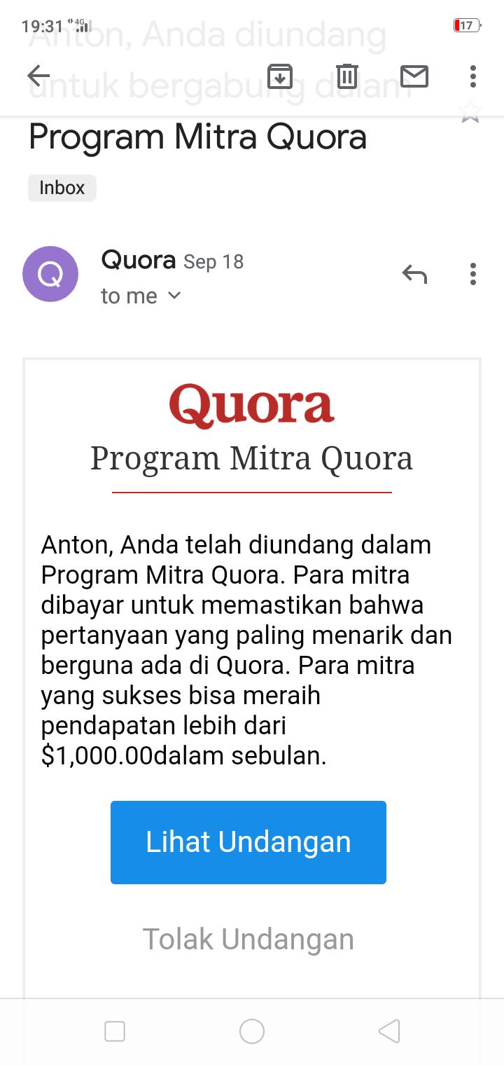 Program Mitra Quora : Ini Yang Mendorong Lahirnya Banyak Pertanyaan Aneh Tak Bermutu